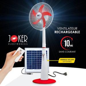 ventilateur joker rechargeable Matériels Electroniques
