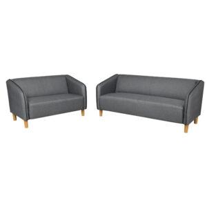 sofa Bisotec gris 2 pc Electroménager