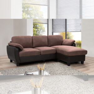sofa L Bisotec marron Electroménager