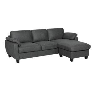 sofa L Bisotec Full gris Electroménager