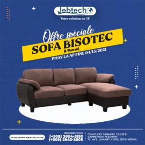 Offre Sofa Bisotec L Marron promotion
