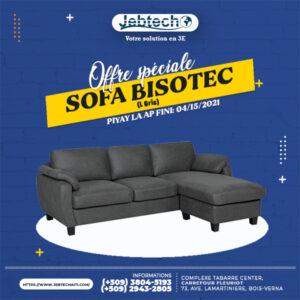 Offre Sofa Bisotec L Gris promotion