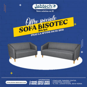 Offre Sofa Bisotec Gris 2pc promotion